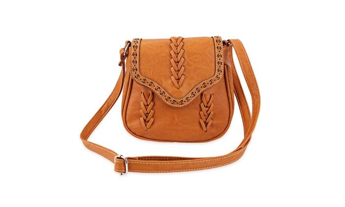 01026c4dfcc Retro Lady Shoulder Bag Ethic Knit Feel Bag Packup Bag Girl Handbag ...