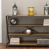 Lancashire Rustic Industrial Style Metal and Wood Ocassional Tables and shelf