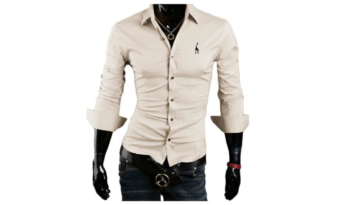 Men's Buttons Up Fashion Slim Fit Casual Simple Shirt