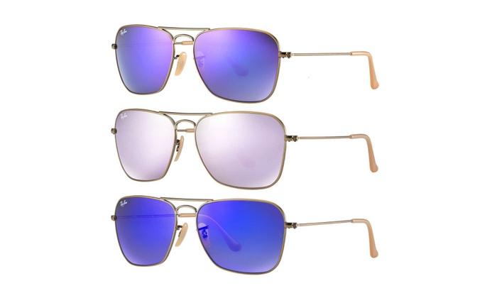 Ray-Ban RB3136 Mirrored Caravan Sunglasses