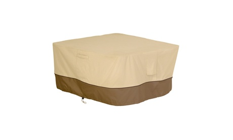 Classic Accessories Veranda Fire Pit Table Cover, square, Pebble 522a581d-7329-4088-a210-8f8fe63e16c1