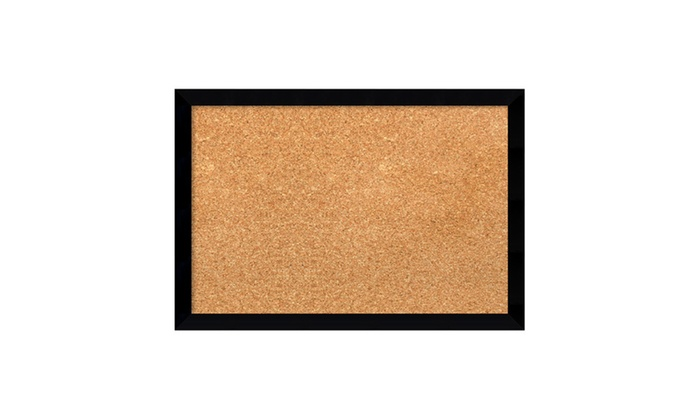 Framed Cork Board Small Svelte Noir Black Outer Size 19 X 13