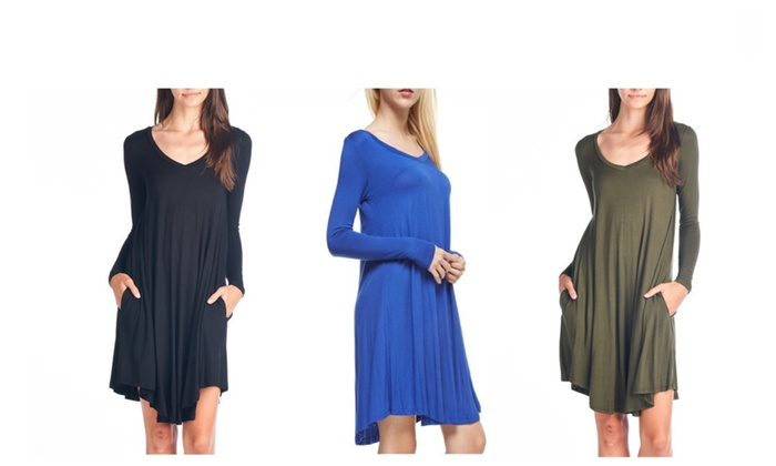 Women's Flare Dress With Pockets