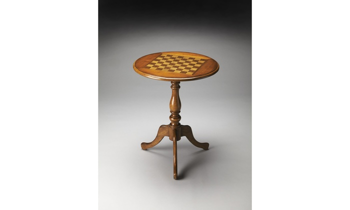 Butler olive ash burl game table groupon for 12 in 1 game table groupon