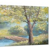 Summer Forest with Beautiful River Metal Wall Art 28x12