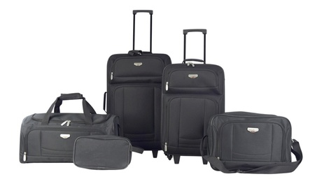 5 Piece BEST VALUE Luggage and Accessories Set