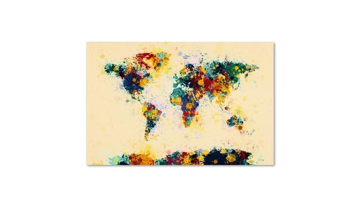 Michael tompsett world map paint splashes canvas art groupon michael tompsett world map paint splashes canvas art gumiabroncs Choice Image