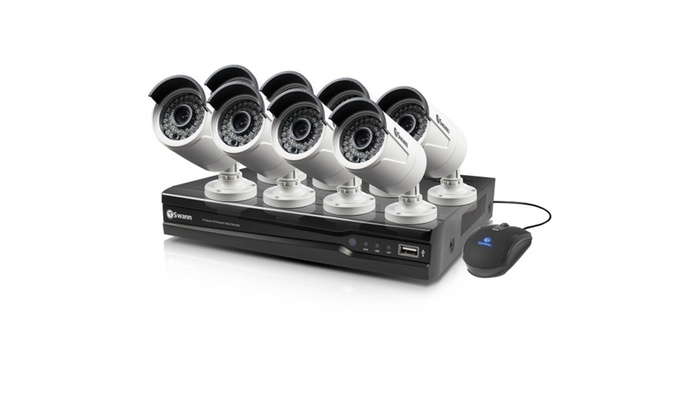 Swann Snvkw-874008-us 8 Channel 4MP NVR & 8 x 4MP POE Cameras