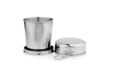 60ml Stainless Steel Folding Cup Traveling Outdoor Camping Mug bd752c44-5c9d-4d37-917e-799236010baf