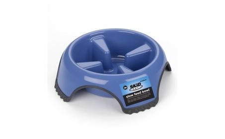 JW Pet SkidStop Slow Feed Pet Bowl ( Blue/ White ) 71054a64-a3c7-4515-933c-c888bbb26b43