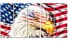 Land of the Free - Eagle Metal Wall Art