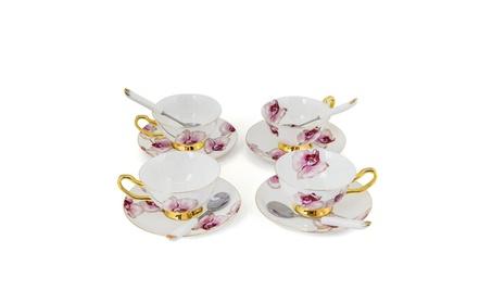 Porcelain Tea Cup and Saucer Coffee Cup Set White color e5712c75-89c4-4a6a-b473-b42e72c82e32