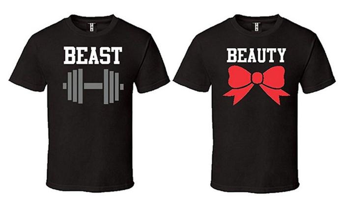 Beauty And Beast T-Shirts Matching Couples