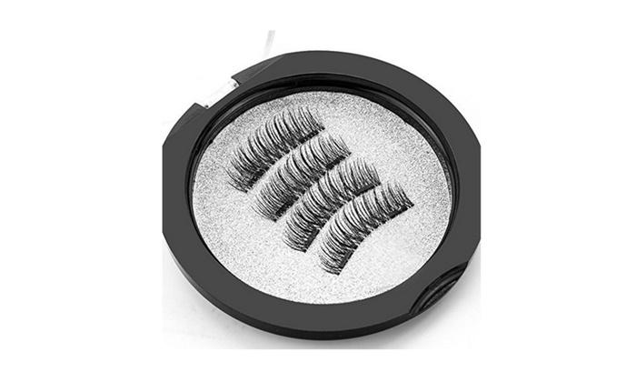 8fb1c07c553 Dual Magnetic False Eyelashes 3D Fake Magnetic Lashes Set (4 pieces) |  Groupon