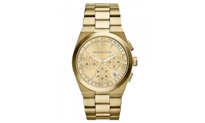 Michael kors womens gold channing chronograph watch groupon for Michaels craft store watches