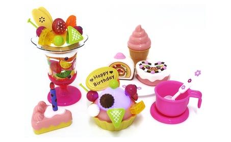 AZImport PS730 Play Food Set with Cupcake, Cakes, Ice Cream & Sundae 1049305e-7640-49b6-abf5-7db7ec7148f3