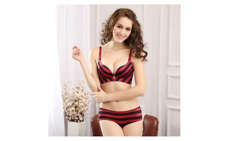 Sexy Seamless Push Up Bra Sets Striped silk underwear 7832ee4c-de99-4ff1-a885-21e160805600