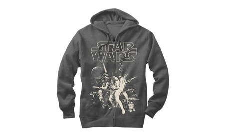 Star Wars Mens Classic Poster Characters Zipup Hoodie 46e5221a-cafd-4c32-804e-c2021942c7e9