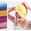 Set of 2 Microfiber Hair Drying Towels