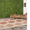 """Safavieh Indoor/Outdoor Warm Red Courtyard Area Rug, 5'3"""" X 7'7"""""""