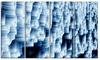 Abstract Blue Ice - Photography Glossy Aluminium Art artwork