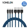 Lightning Cable, 3Pack 10FT Nylon Braided Extra Long Tangle-Free Cord