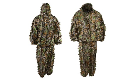 LYGLO Mens 3D Lightweight Hooded Camouflage Ghillie Hunting Suits - One Size 8398c22c-28fa-4d9e-a4ab-6afa00d2a61d