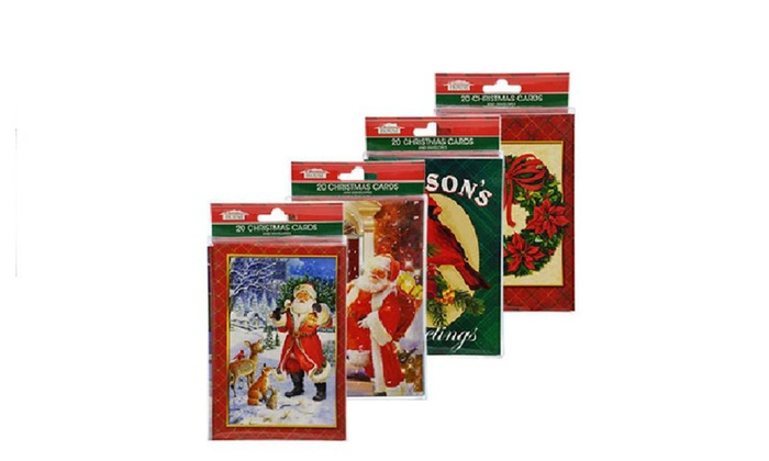 christmas holiday santa deluxe christmas cards with envelopes - Deluxe Christmas Cards