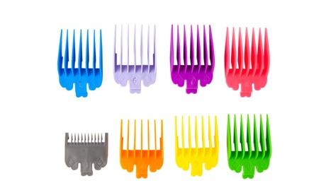 8PCS Professional Hair Clipper Guide Combs Hair Cutting Shaver Accessories