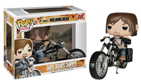 Funko Pop Rides TV The Walking Dead Daryl Dixon's Chopper Vinyl Figure Toy #08 cda75226-3586-45e5-9334-1c35304da89a