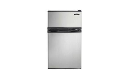 Danby 3.1 Cubic Feet 2-Door Compact Refrigerator, Steel photo