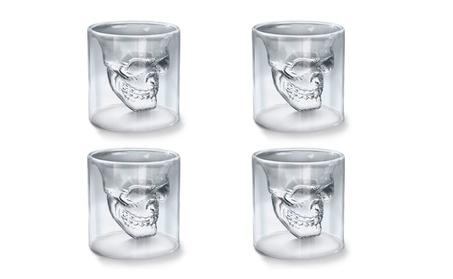 4 Pcs/Lot Creative Skull Head Shot Fun Doomed Transparent Wine Glass - 25 ML * 4 ceb0c186-c215-48a1-826d-706964958416