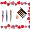 Spiral Ceramic Curling Iron & Makeup Palette Perfect For Valentine Day