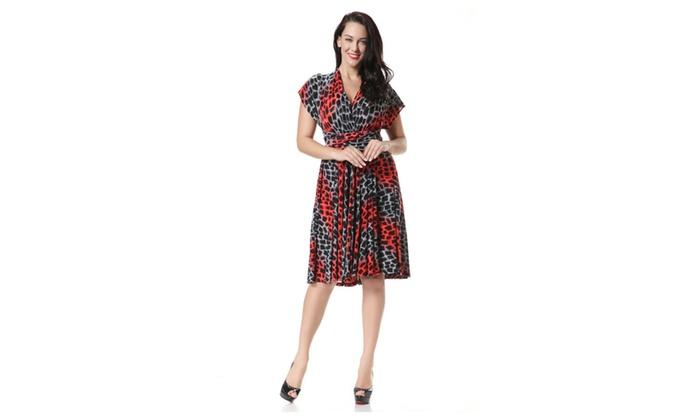 Women Plus Size Halter Skirt Chiffon Short Length Dress - ZWWD383