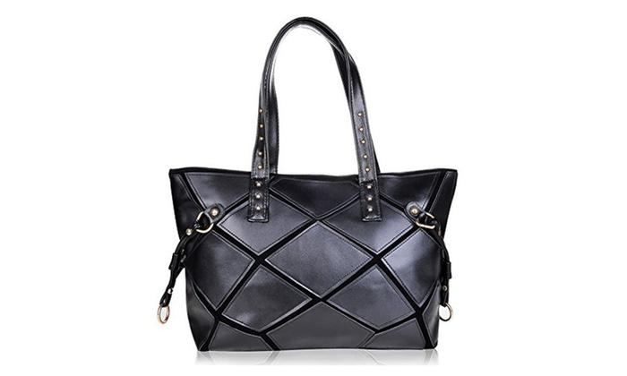 Vbiger Fashion Women Shoulder Bag Classical Checkered Leather Handbag