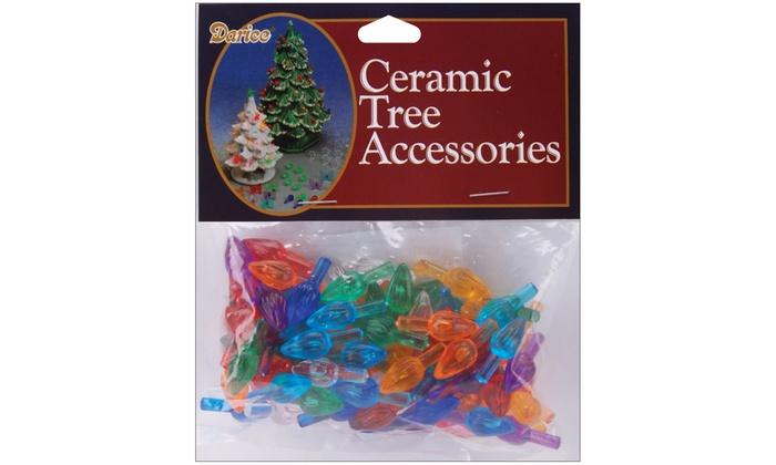 Darice Ceramic Christmas Tree Accessories Flame Pin 0 625 Inch Multi Color