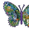 Rainforest Butterfly Shaped Jigsaw Puzzle 1000 Pieces