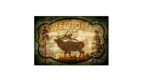 LightBoxJournal 'Welcome Lodge Elk' Canvas Art 7570372a-4e57-4a12-9144-dfc936584e96