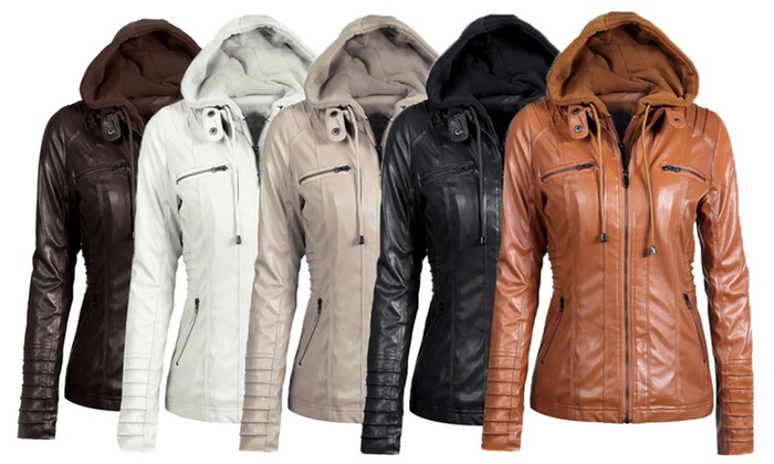 Zip Pockets Detachable Hood Jacket