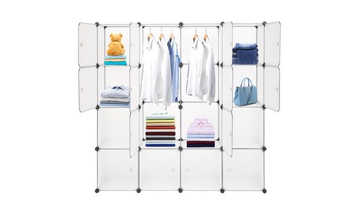 Up To 50 Off On Modular Closet Plastic Cabine Groupon Goods