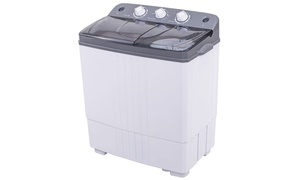 Costway Portable Mini Compact Twin Tub 16Lbs Total Washing Machine