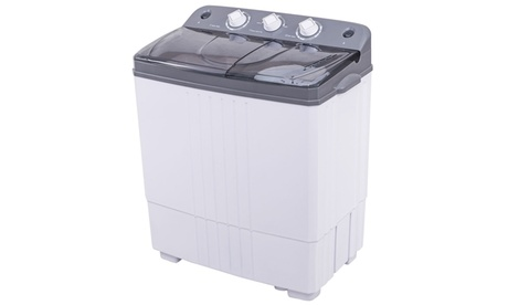 Costway Portable Mini Compact Twin Tub 16Lbs Total Washing Machine photo