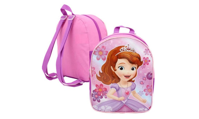 Disney Sofia the First Mini Backpack features Sofi