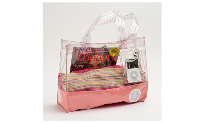 Clear Outdoor Tote Bag with Speaker