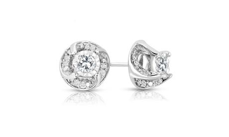1/2cttw Diamond Twist Stud Earrings in Sterling Silver 5f5579b5-d85e-4474-a8c2-6545cf9e25d5