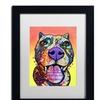 Dean Russo 'Bark Don't Bite' Matted Black Framed Art