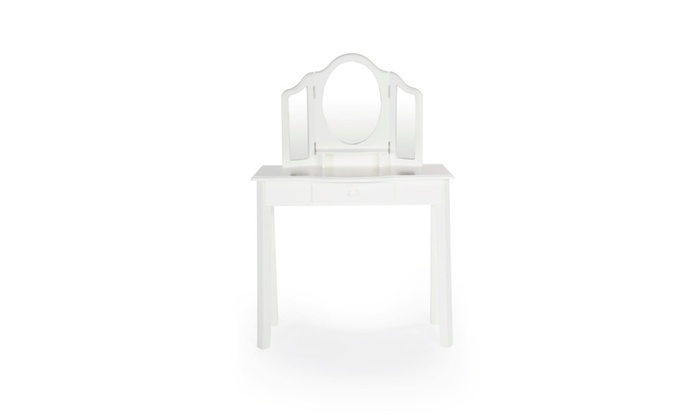 Guidecraft Classic White Vanity And Stool G85710 Groupon