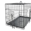 48 inch Pet Kennel Cat Dog Folding Crate Wire Metal Cage W/Divider