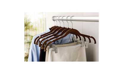 Shop Groupon Simplify Velvet Suit Hanger With Clips (6 Pack)