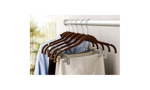 Simplify Velvet Suit Hanger with Clips (6-Pack)